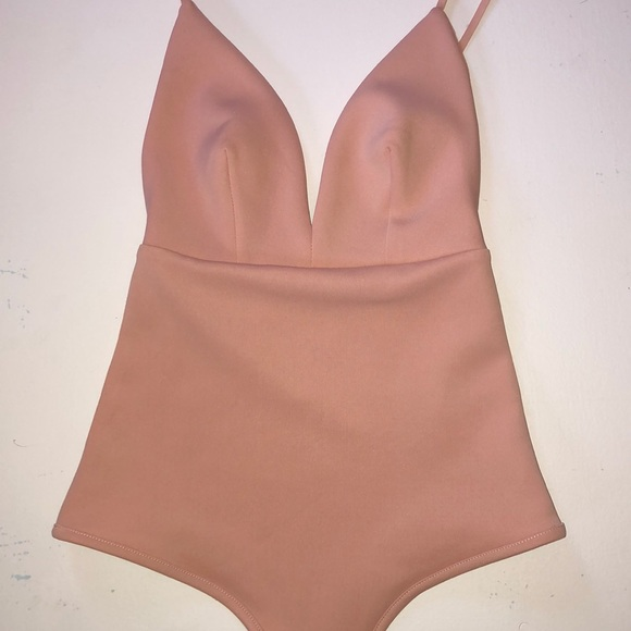 Revamped peach body suit xs